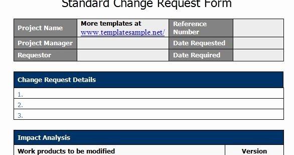 Marketing Project Request form Template Elegant Standard Change Request form Template Sample