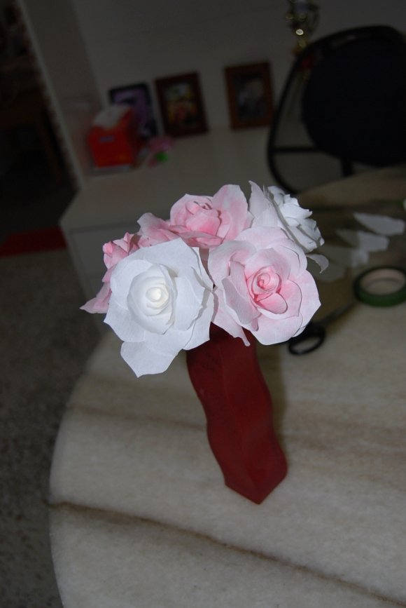 Martha Stewart Coffee Filter Roses Awesome July 2012