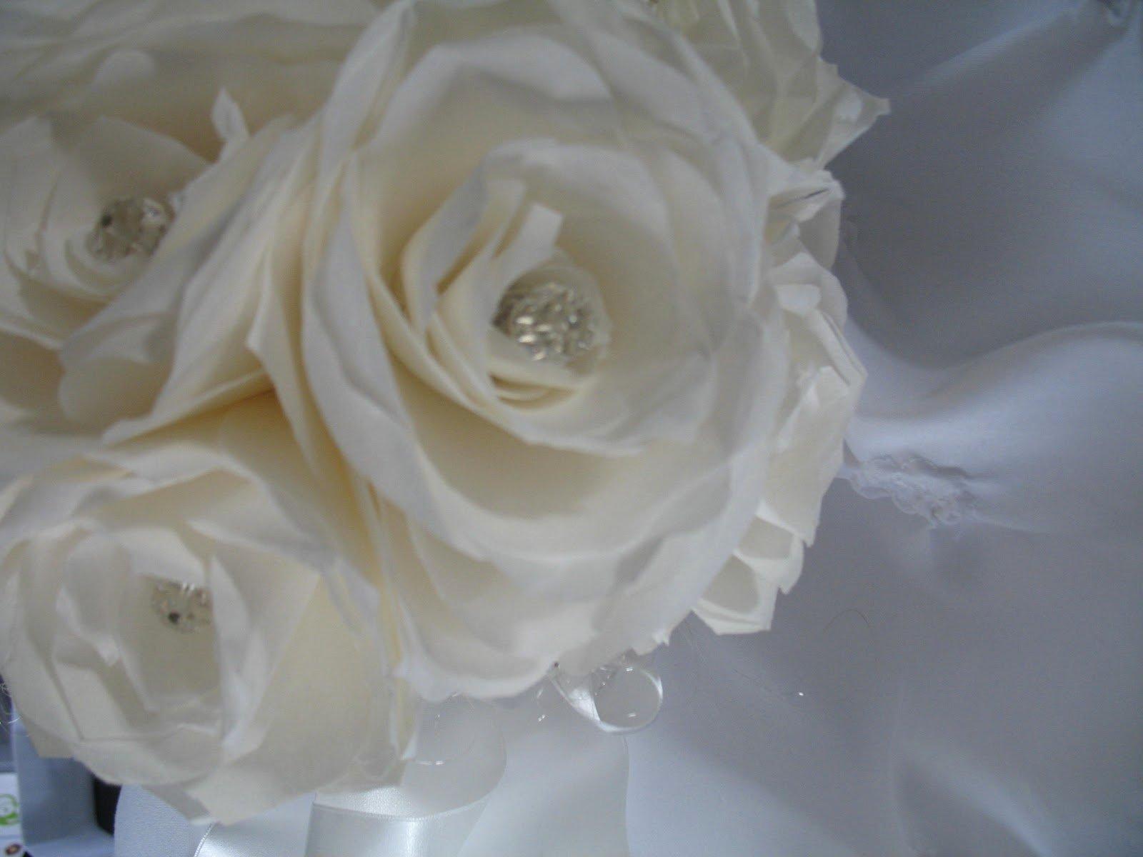 Martha Stewart Coffee Filter Roses Luxury Zoe Bean Design White Rose Bouquet