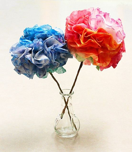 Martha Stewart Coffee Filter Roses Unique A Bouquet Of Good Wishes