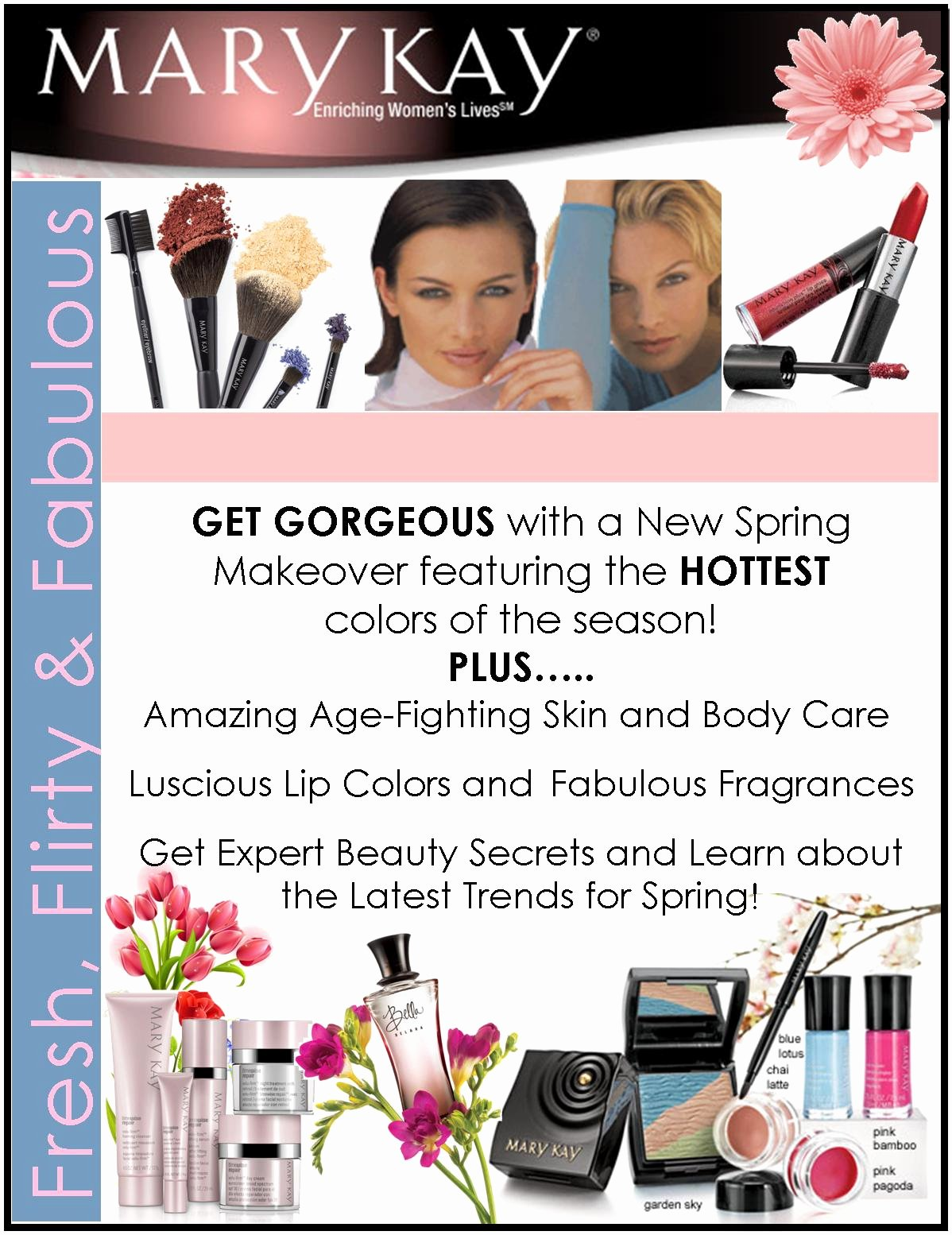 Mary Kay Customer Profile Template Unique Spring Selling Ideas March May