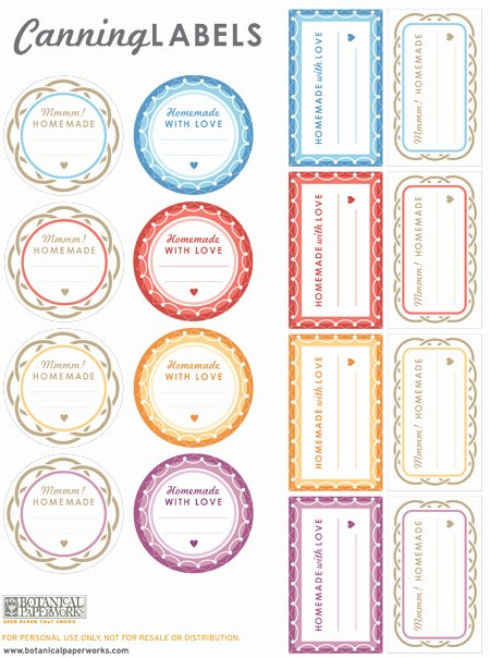 Mason Jar Tags Template Unique Free Printables Canning Labels for Your Homemade Goo S