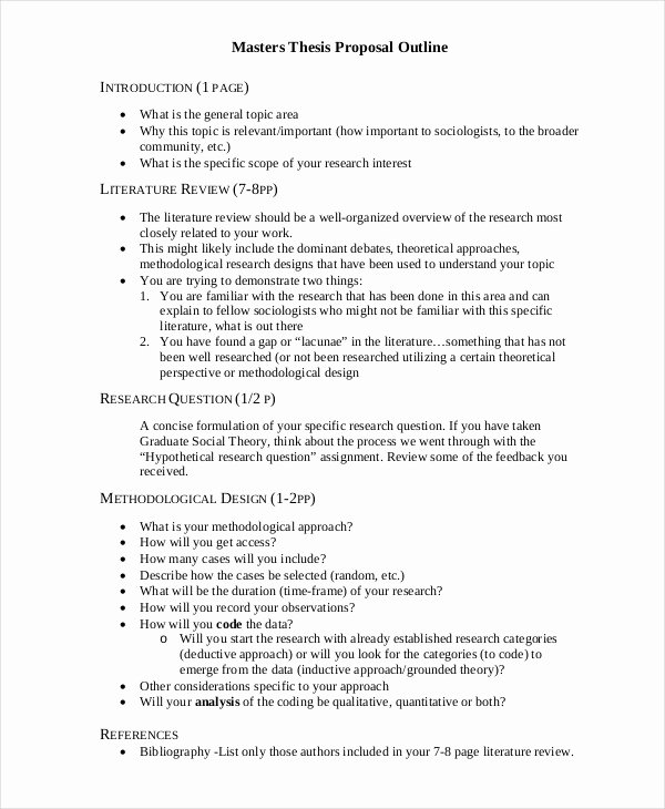 Master Degree Essay Examples Beautiful 56 Proposal Examples Pdf