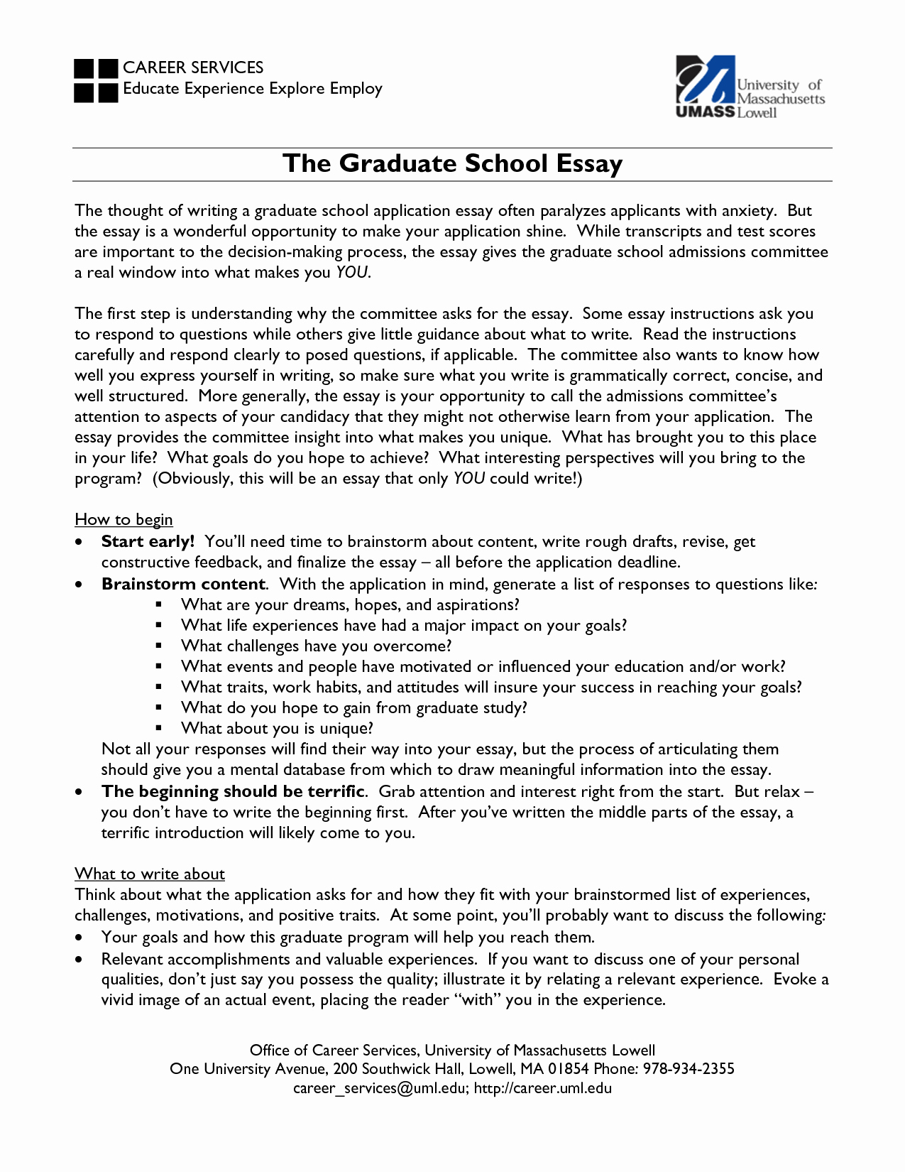 Master Degree Essay Examples Elegant A Graduate Application Essay