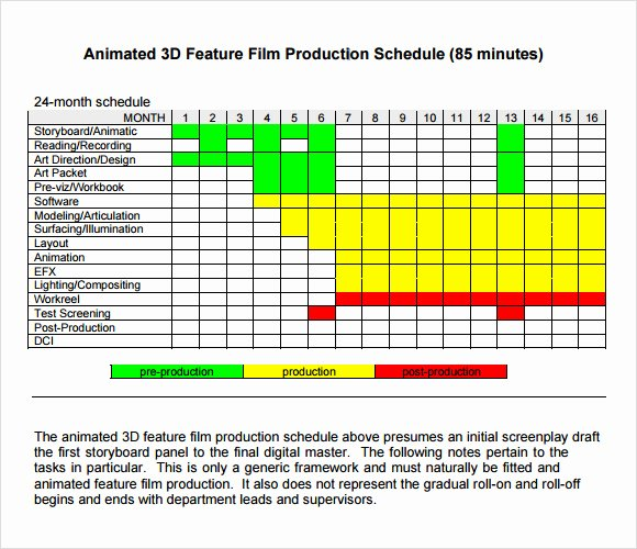 Master Production Schedule Template Excel Best Of Sample Shooting Schedule 12 Documents In Pdf Word Excel
