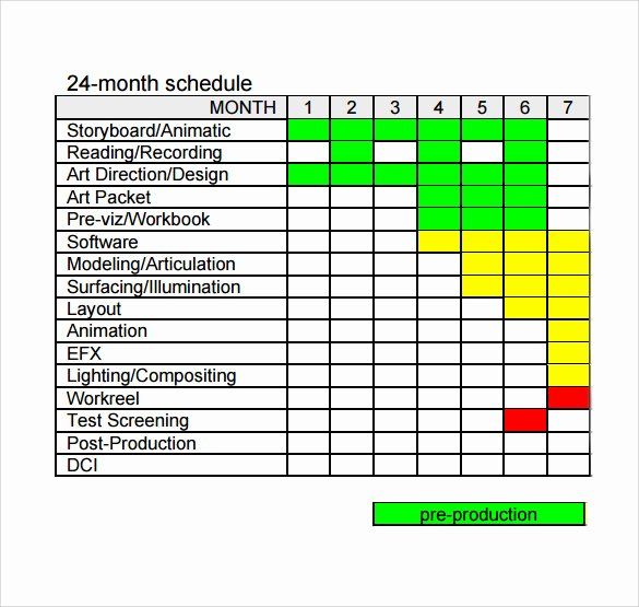 Master Production Schedule Template Excel New 11 Sample Production Schedule Templates