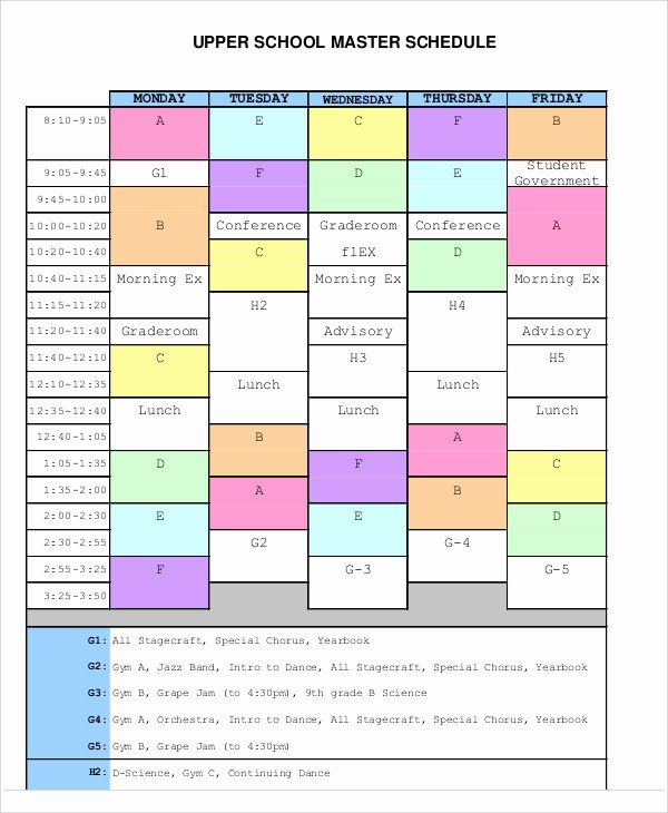 Master Production Schedule Template Excel New Master Schedule Templates 11 Free Samples Examples