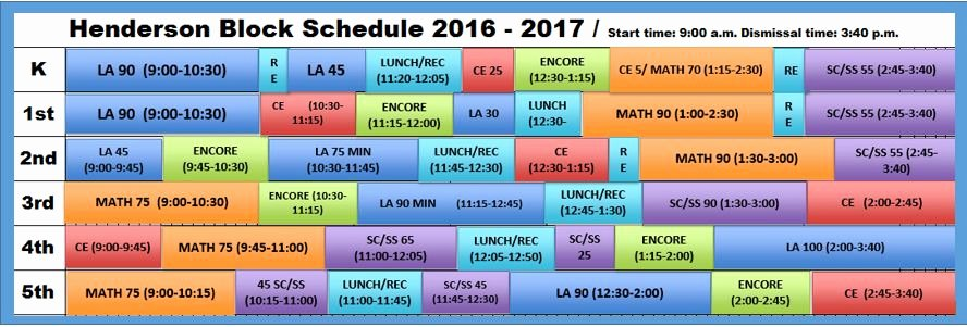 Master Schedule Template Best Of Elementary School Master Schedule Template