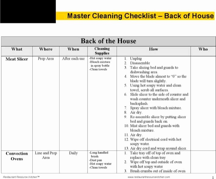 Master Schedule Template Fresh Download Master Cleaning Schedule Template for Free
