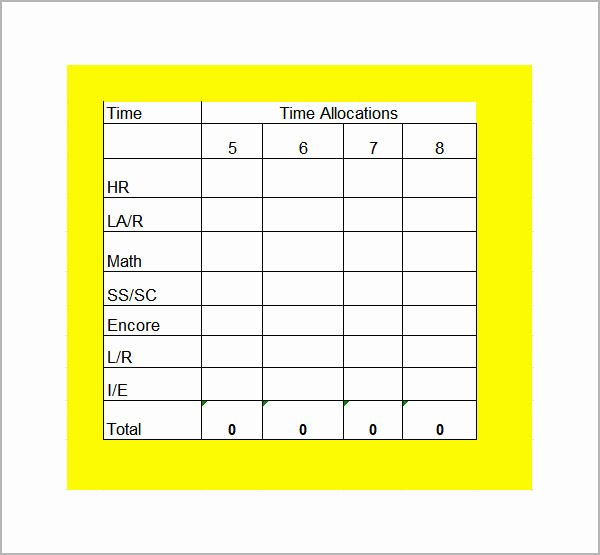 Master Schedule Template Lovely Class Schedule Template 6 Download Free Documents In