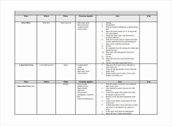 Master Schedule Template New 46 Cleaning Schedule Templates Pdf Doc Xls