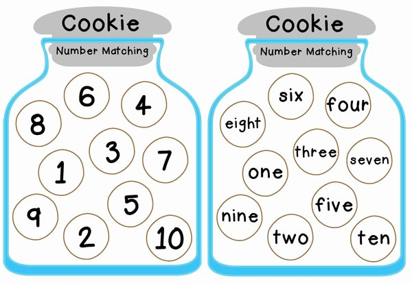Matching Test Template Microsoft Word Beautiful Cookie Jar Number Matching Free Printable