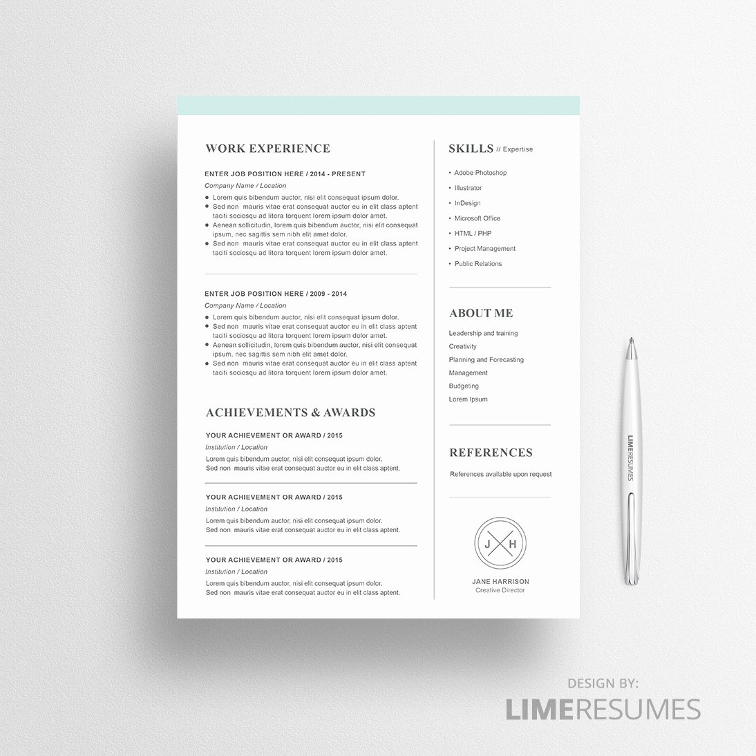 Matching Test Template Microsoft Word Lovely Modern Resume Template for Microsoft Word Limeresumes