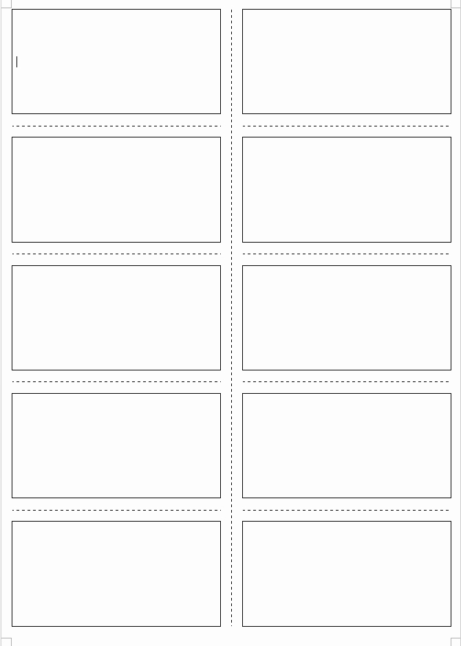 Matching Test Template Microsoft Word New Cards
