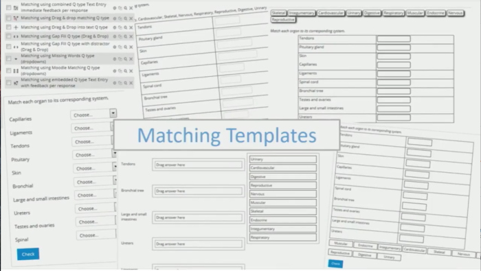 Matching Test Template Microsoft Word New Create Learning Objectives In Your Moodle Quiz Templates