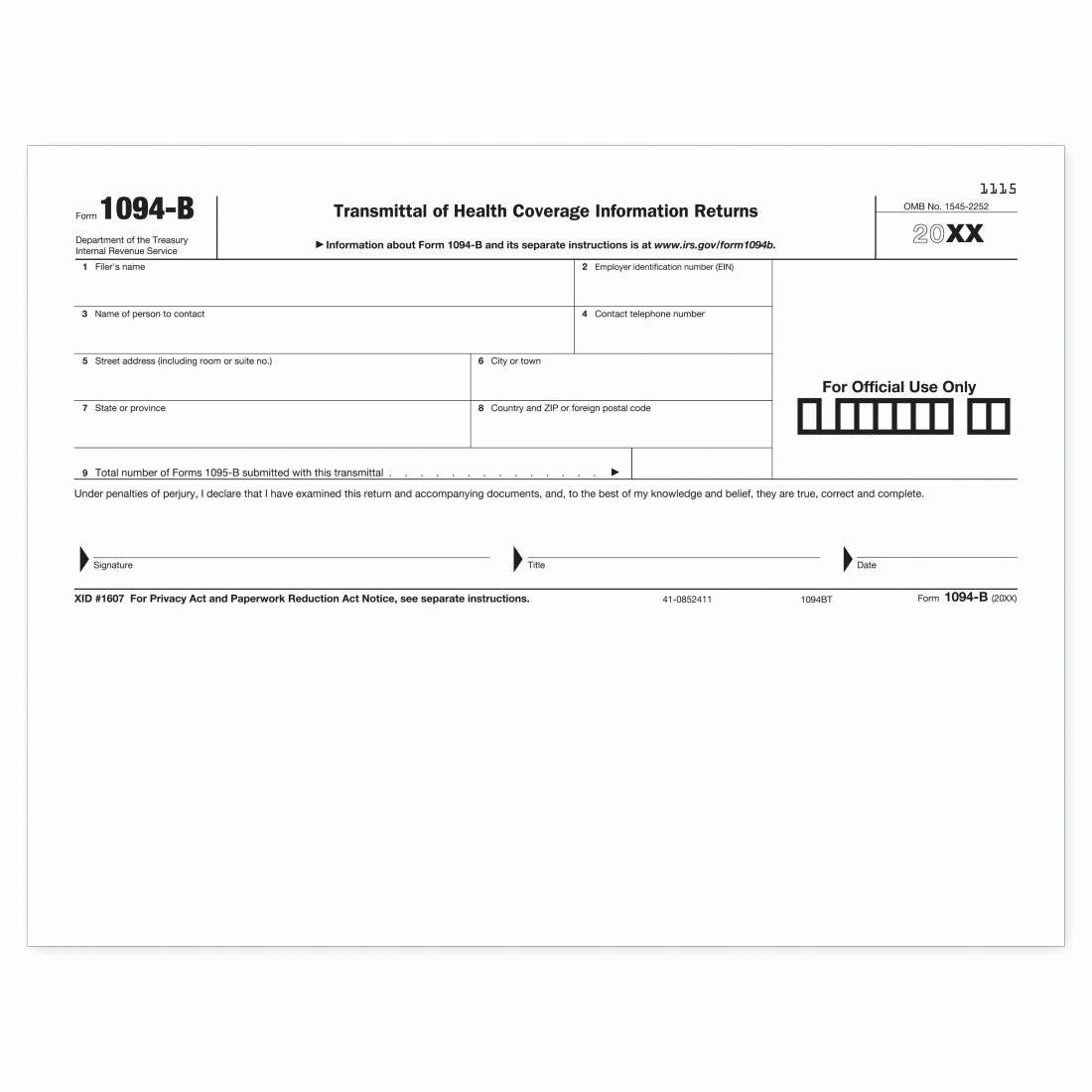 Material Transmittal form Fresh Laser 1094 B Transmittal Health Coverage Tf5400 at Print Ez
