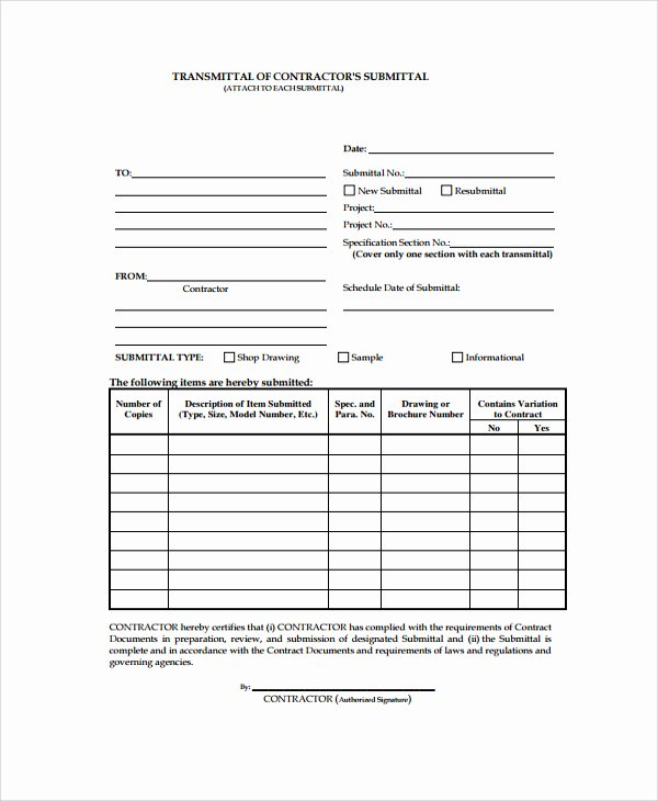 Material Transmittal form New 23 Of Transmittal Sheet Template