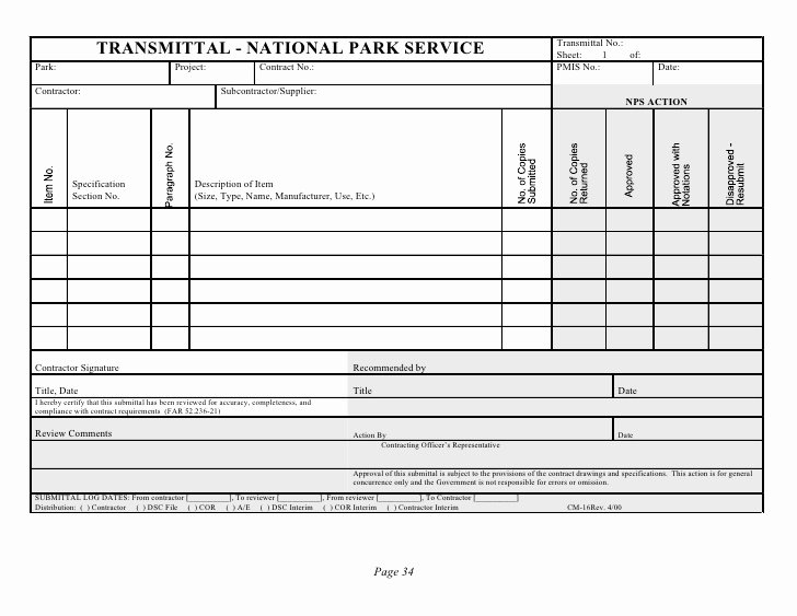 Material Transmittal form Unique Design Build Db Request for Proposal Rfp Template with