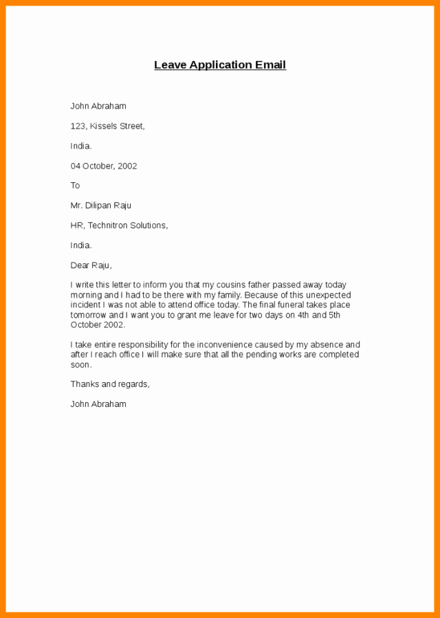Maternity Leave Letter to Clients Beautiful How to Write A Professional Email for Leave 3 Naples My Love