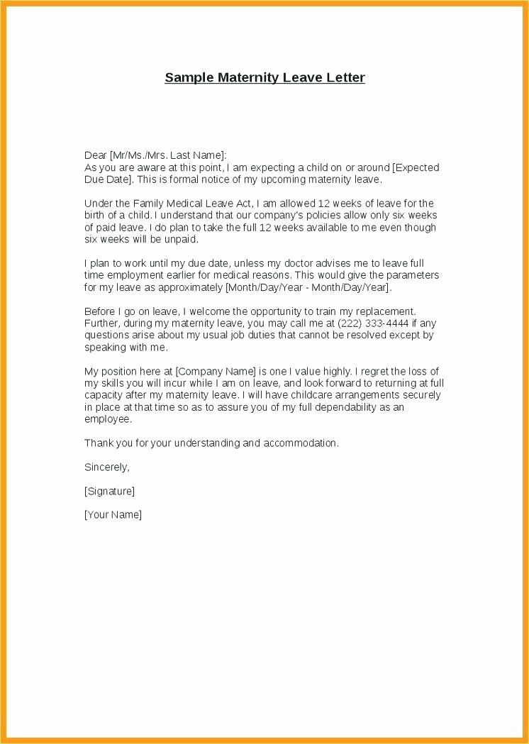 Maternity Leave Letter to Clients Luxury Leave Letter