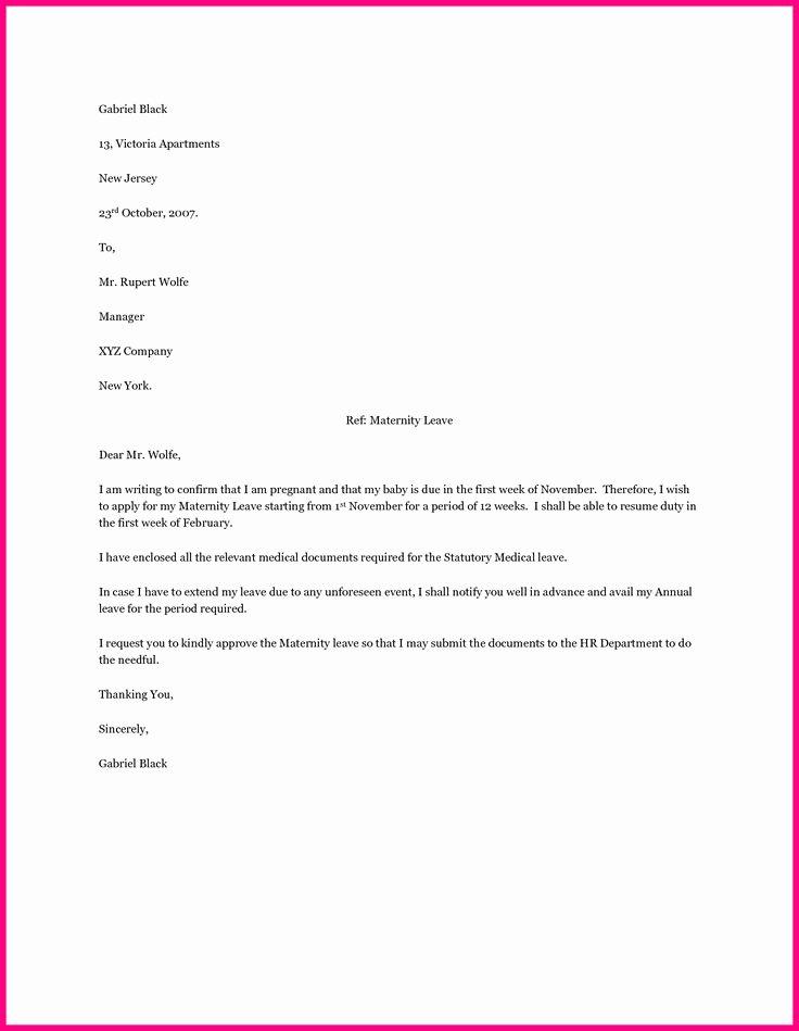 Maternity Leave Resignation Letter Best Of Best 20 Maternity Leave Application Ideas On Pinterest