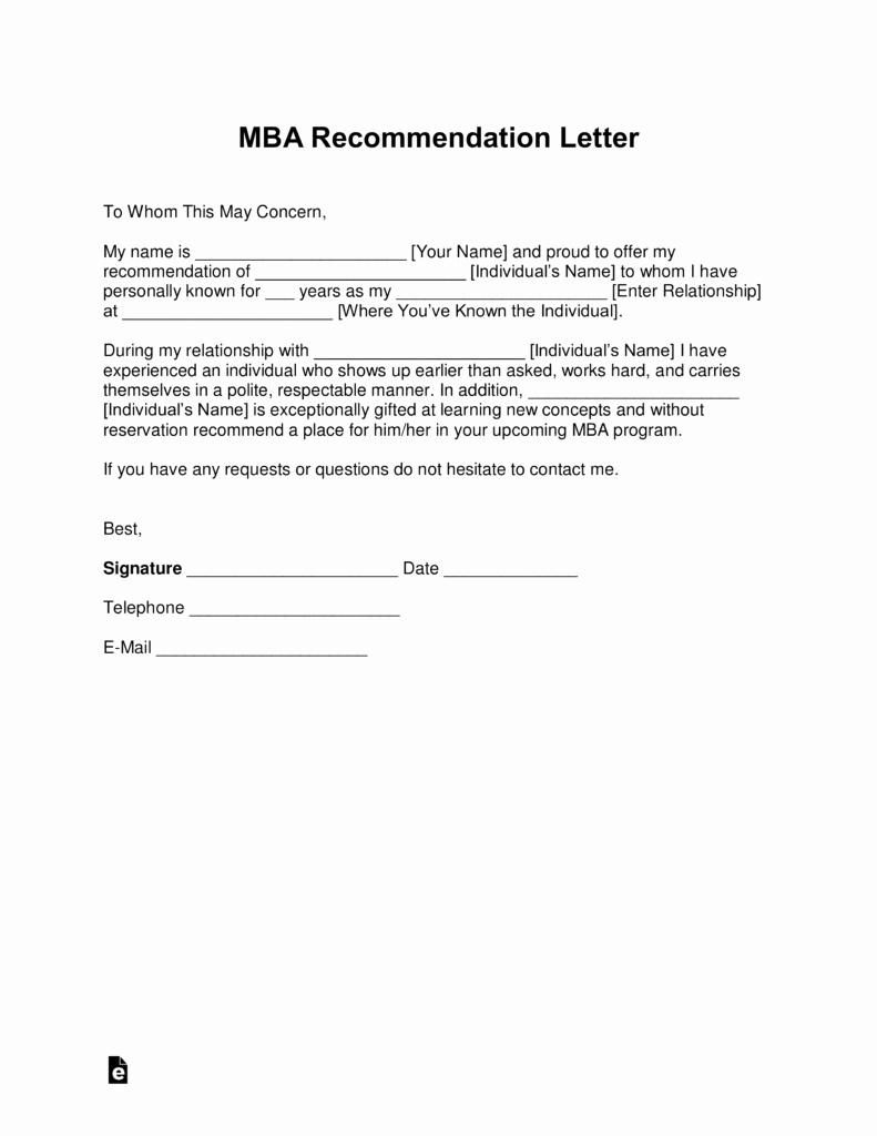 Mba Admission Essay Samples Pdf New Free Mba Letter Of Re Mendation Template with Samples
