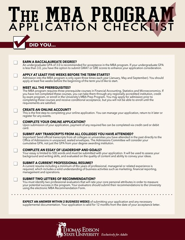 Mba Admission Essay Samples Pdf Unique Mba Application Checklist 9 Things You Must Do before You