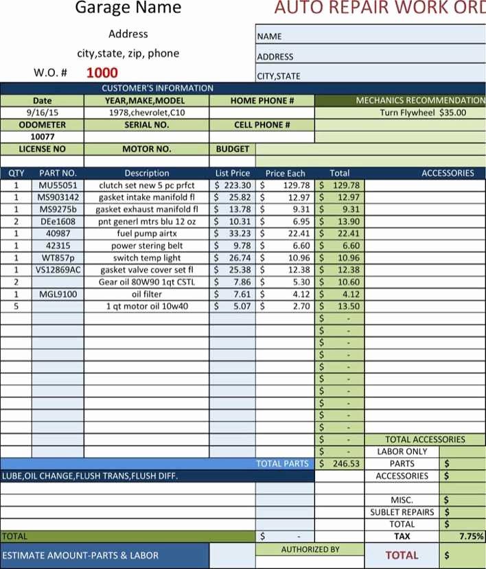 Mechanic Receipt Template Fresh Download Mechanic Receipt for Free Tidytemplates