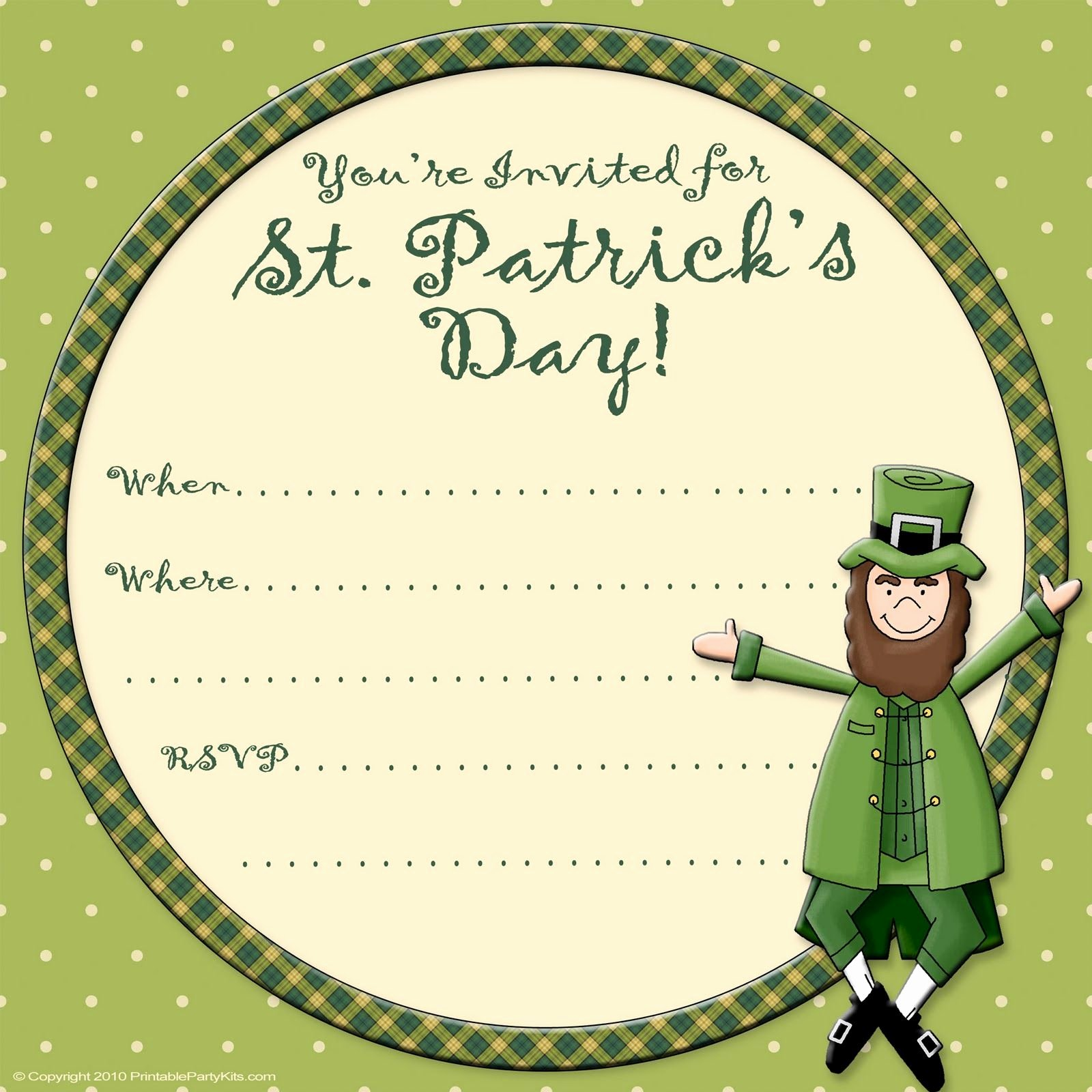 Media Announcement Template Fresh Free Printable Party Invitations Free St Patrick S Day