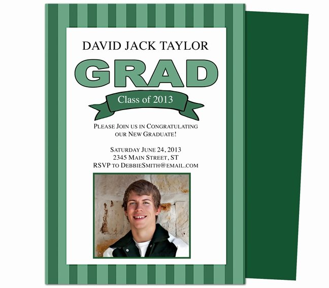 Media Announcement Template Inspirational Graduation Announcements Templates Printable Diy Stripes