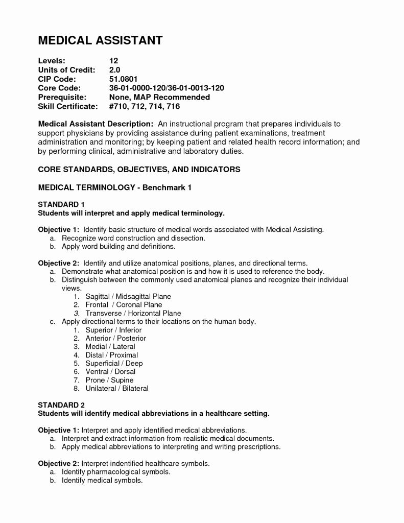 Medical assistant Externship Resume Elegant Medical assistant Externship Resume Sample – Perfect