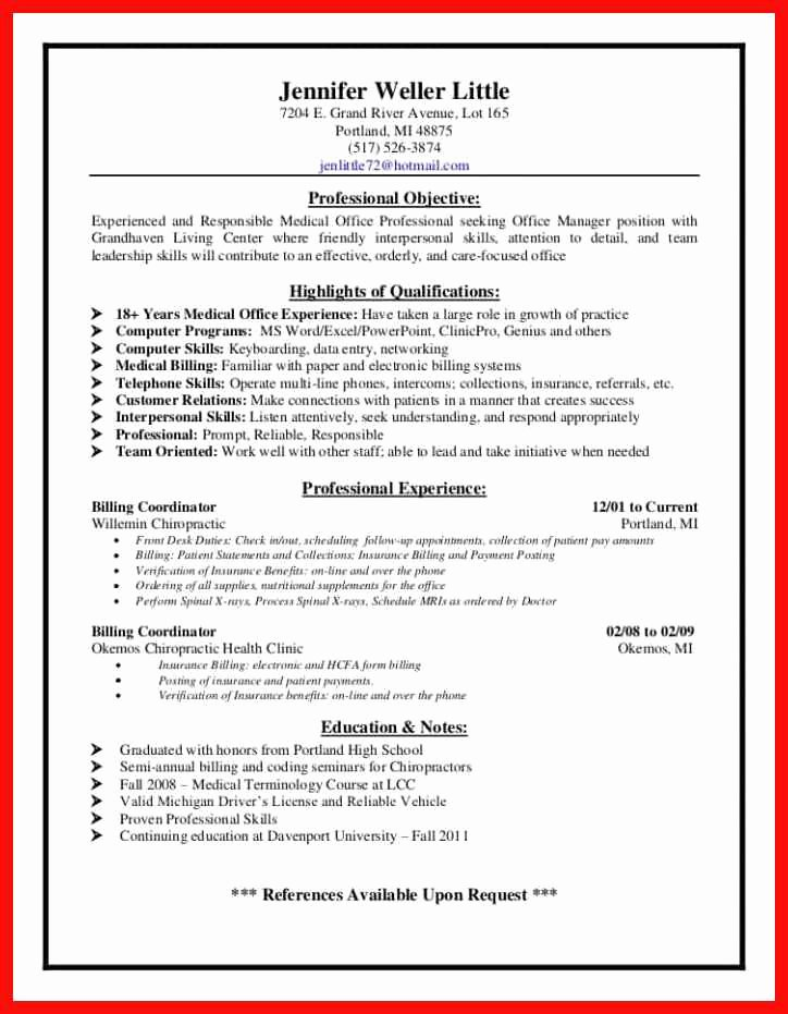 Medical assistant Externship Resume Inspirational Billing and Coding Resume