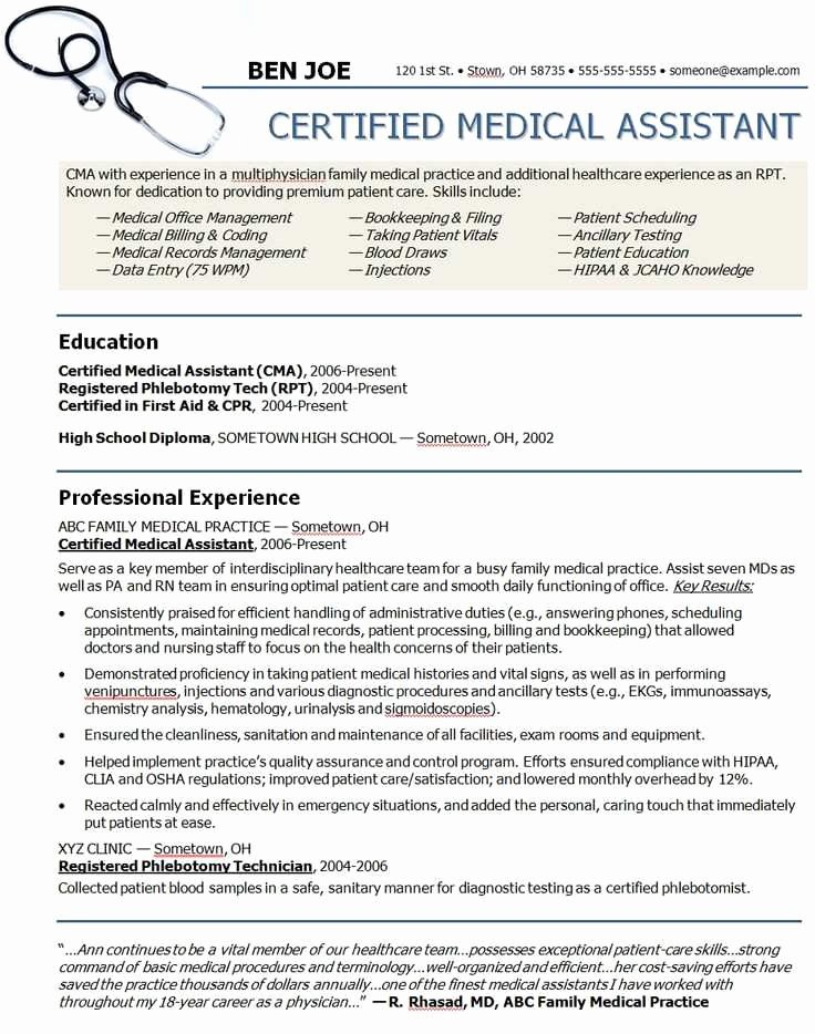 Medical assistant Externship Resume Luxury 15 Perfect Medical assistant Resumes Qa U – Resume