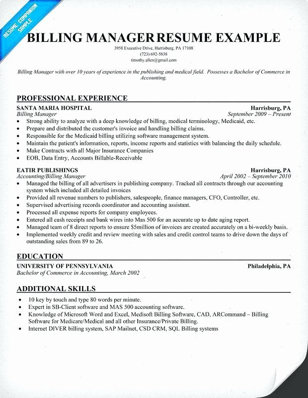 Medical Biller Resume Examples Elegant 14 15 Medical Coding Resumes Examples