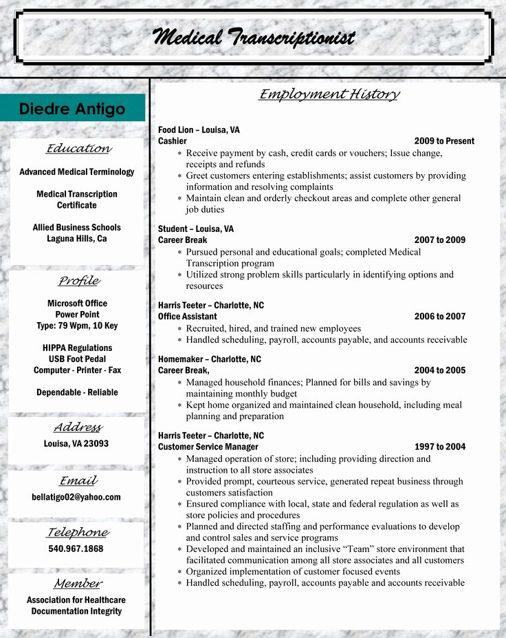Medical Biller Resume Examples Inspirational Medical Billing and Coding Resume Sample