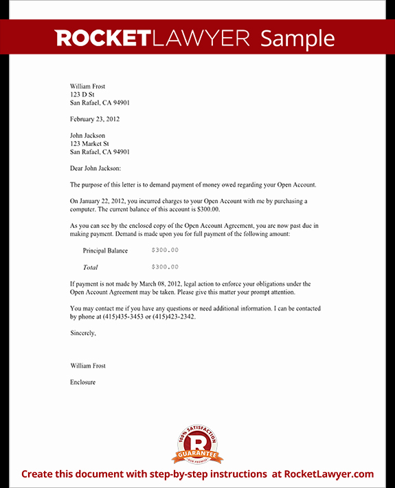 Medical Collection Letter Final Notice Elegant Demand Letter for Money Owed with Sample