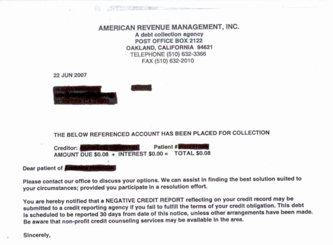 Medical Collection Letter Final Notice Luxury Hospital Billing True Cost Of Heathcare