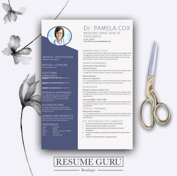 Medical Cv Template Word Elegant Medical Resume Template Cover Letter for Ms Word Best Cv