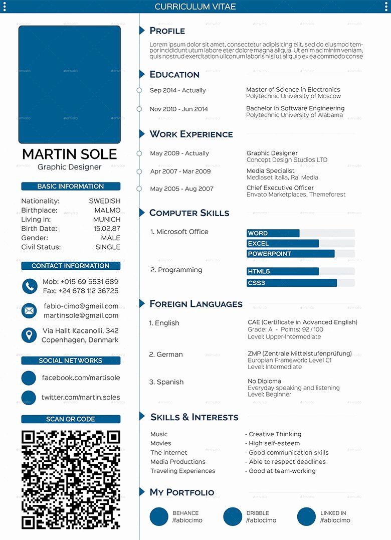 Medical Cv Template Word Lovely 68 Cv Templates Pdf Doc Psd Ai