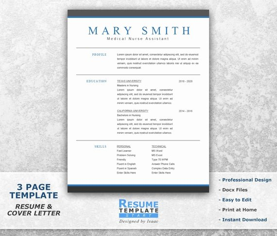Medical Cv Template Word Luxury Medical Resume Template Word Professional Resume Template