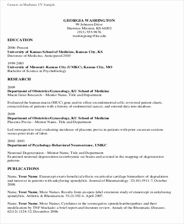 Medical Cv Template Word Unique Medical Student Cv Sample 7 Examples In Word Pdf