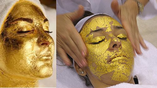 Medical Face Sheet Beautiful 5pcs 3 3cm Gold Foil Mask Sheet Spa 24k Gold Face Mask