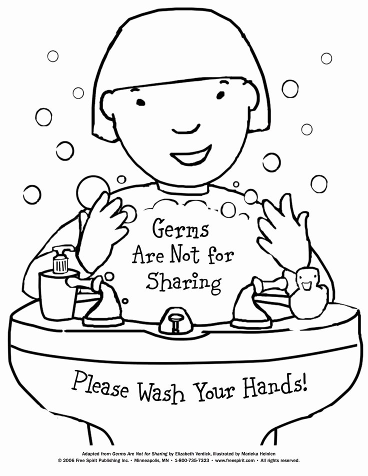 Medical Face Sheet Template Lovely Free Printable Coloring Page to Teach Kids About Hygiene