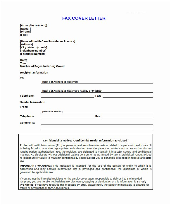 Medical Face Sheet Template Luxury 9 Confidential Fax Cover Sheet Templates Doc Pdf
