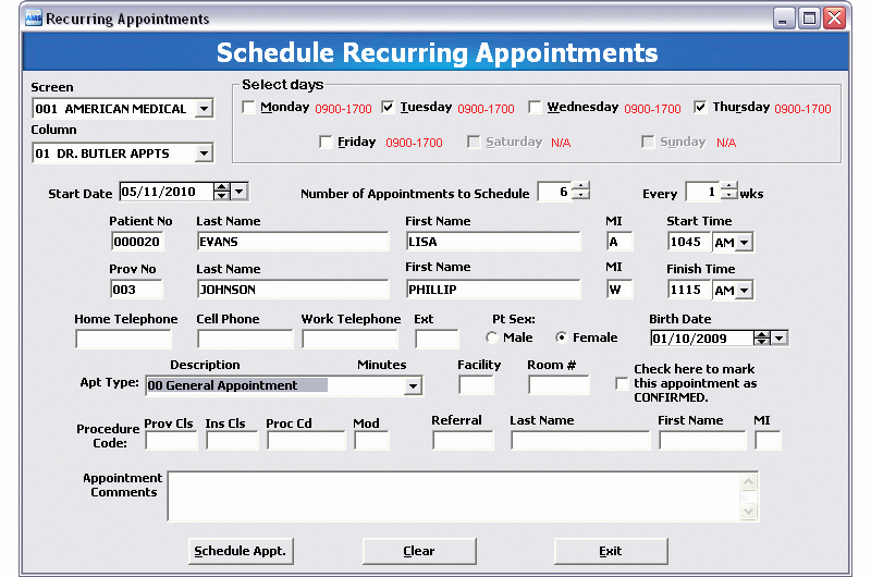 Medical Office Appointment Scheduling Template Fresh Appointment Scheduling with Open Encounter Tracking