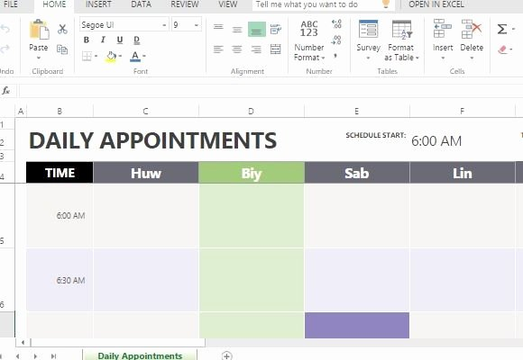 Medical Office Appointment Scheduling Template Lovely Patient Appointment Scheduling Template Excel