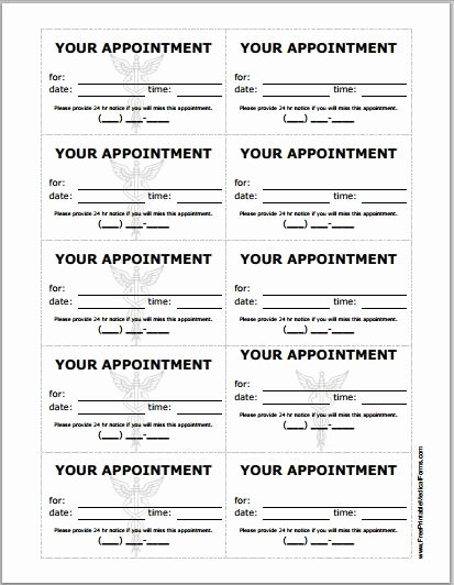 Medical Office Appointment Scheduling Template Unique Patient Appointment Cards Template