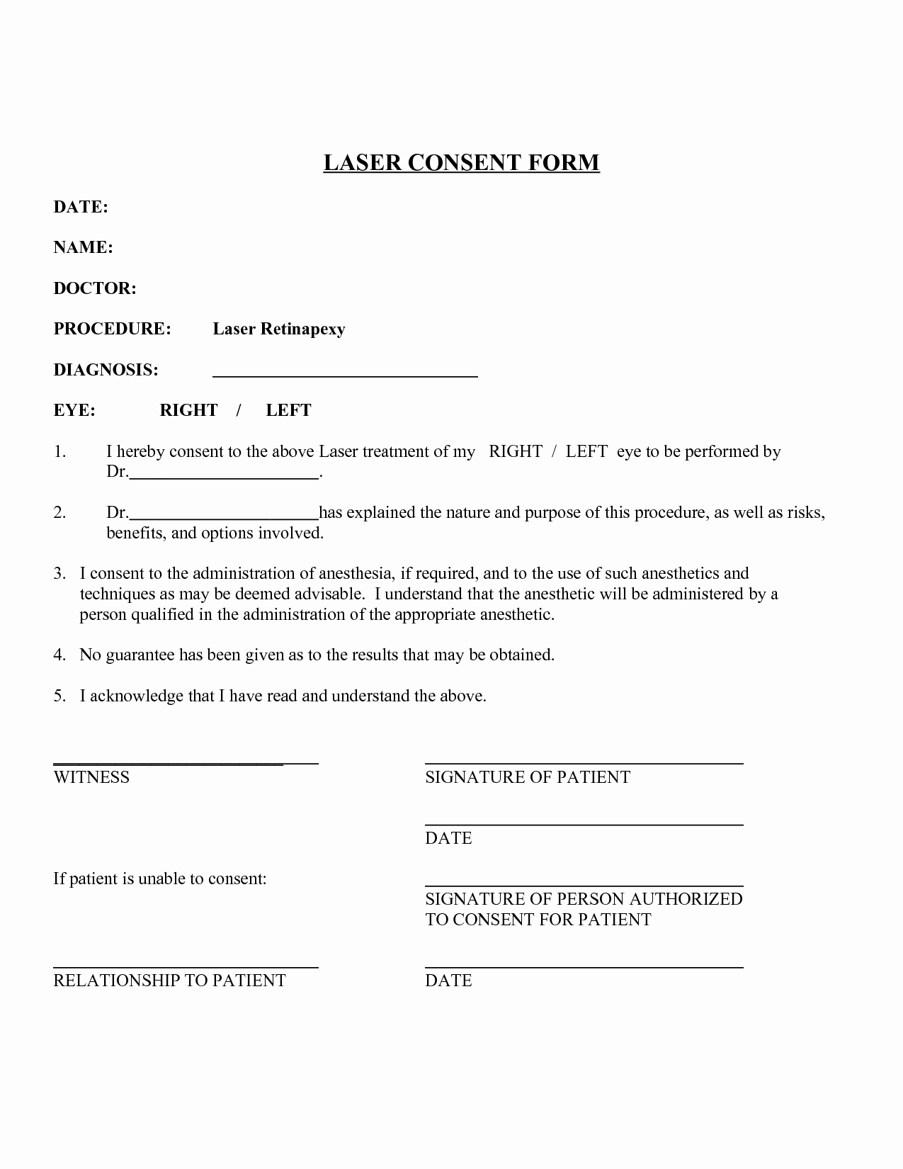 Medical Procedure Consent form Template Awesome Minor Surgery Consent form Template