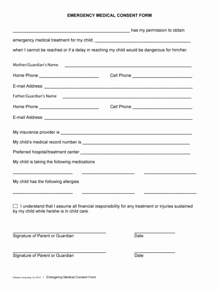 Medical Procedure Consent form Template Best Of 45 Medical Consent forms Free Printable Templates