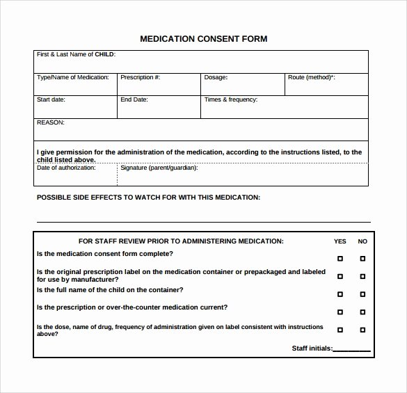 Medical Procedure Consent form Template New Medical Consent form 6 Download Free In Pdf